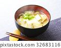 nameko, pholiota nameko, tofu 32683116