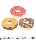 donut, vector, chocolate 32685101