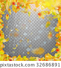Frame with colorful autumn leaves. EPS 10 vector 32686891