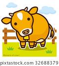奶牛 牲口 牛 32688379