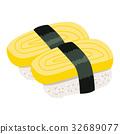 Omelette Nigiri Sushi 32689077