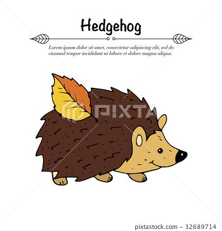 Handdrawn vector doodle logo. 32689714