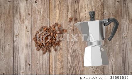 3D Rendering Italian metallic coffee maker 32691613