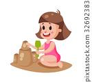 girl sand beach 32692383