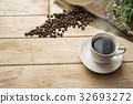 熱咖啡 咖啡 咖啡豆 32693272