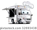 vector cartoon foodtruck 32693438