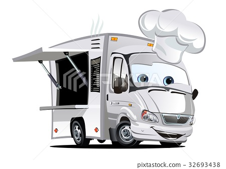Cartoon food truck 32693438