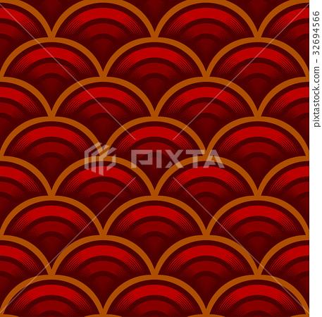 Seigaiha seamless pattern 32694566