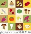 Autumn taste icon material set 32697110