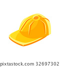 cap yellow baseball 32697302