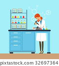 laboratory, microscope, vector 32697364