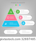 Infographics template of three steps on squares 32697485