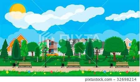 Suburb park concept 32698214