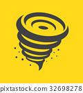 Tornado icon, vector illustration. 32698278