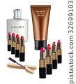Sets of cosmetics on isolated background.vector. 32699103