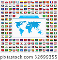 World and Flag Icons 32699355