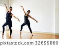 Ballet Dancers Focused on Training 32699860
