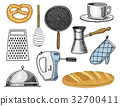 Grater and whisk, frying pan, Turk for coffee, cup 32700411
