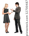 Marketing concept - busiensspeople during negotiations 32700487