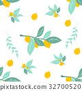 lemon, pattern, vector 32700520