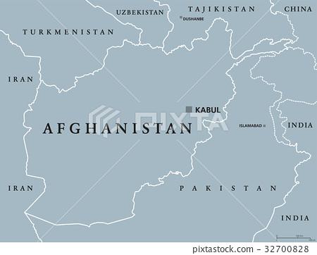 Afghanistan Political Map Stock Illustration 32700828 Pixta