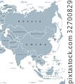 Asia political map 32700829