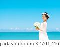 新娘 婚礼 海洋 32701246