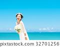 新娘 婚礼 海洋 32701256