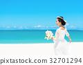 新娘 婚礼 海洋 32701294