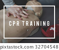 CPR Training Demonstration Class Emergency Life Rescue 32704548