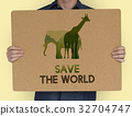 Save Wildlife Protect World Concept 32704747