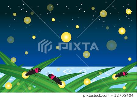 starry sky, firefly, lightning bug 32705404