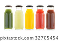vegetable and fruit juice bottles isolated 32705454