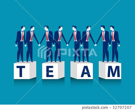 Join hands. Business team. 32707207