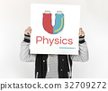 Illustration of science physics magnetic 32709272