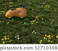 草原にあるおもちゃの乗り物 32710308