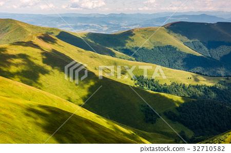 grassy hillside on mountain in summer 32710582