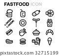 icon, vector, line 32715199