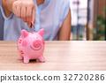 银行 河岸 小猪 32720286