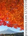 후지산, 산, 푸른 하늘 32720358