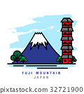 Illustrator of Fuji Mountain. Vector Illustration 32721900