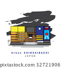 Illustrator of Urban Shinsaibashi. Vector icon 32721906