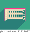 Flat web icon with long shadow  football goal 32722077