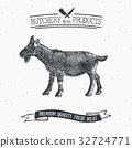 Butcher Shop vintage emblem goat meat vector 32724771