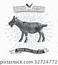 Butcher Shop vintage emblem goat meat vector 32724772