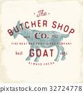 Butcher Shop vintage emblem goat meat vector 32724778