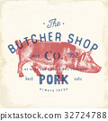 butcher pork vector 32724788