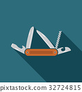 Multifunctional pocket knife icon vector 32724815
