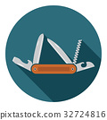 Multifunctional pocket knife icon vector 32724816