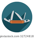 Multifunctional pocket knife icon vector 32724818